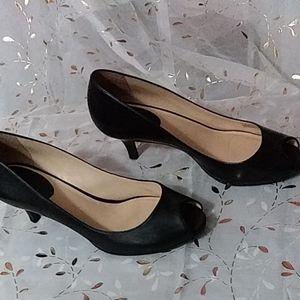 Cole Haan leather open toe heels